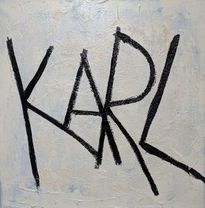 1902 Messy wall 2019 KARL - acrylic on canvas 70x70cm